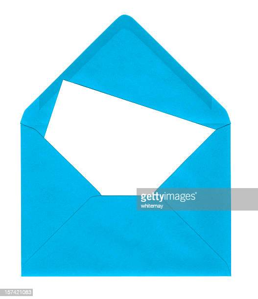 Bright blue envelope with card