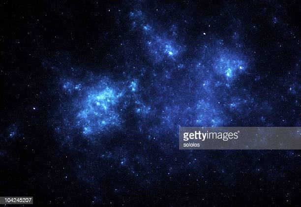 bright blue space nebula - nebula stock pictures, royalty-free photos & images