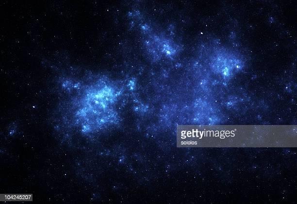 bright blue space nebula - nevels en gaswolken stockfoto's en -beelden