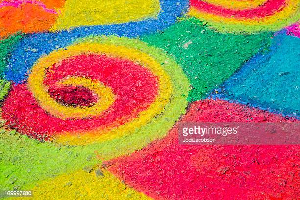 Bright chalk painting