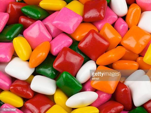 bright chewing gum squares