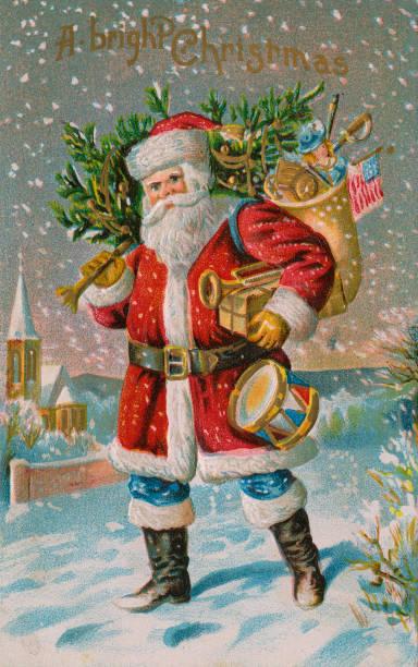 A Bright Christmas Illustration Wall Art