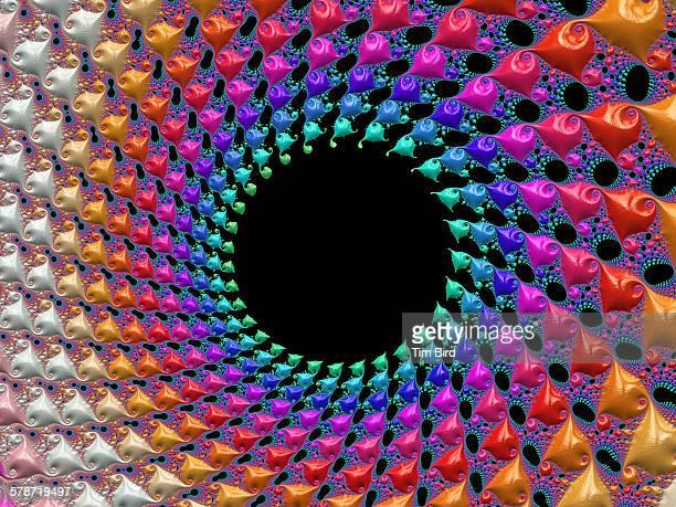 Bright circular fractal