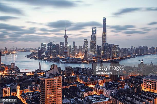 bright city - shanghai stock pictures, royalty-free photos & images