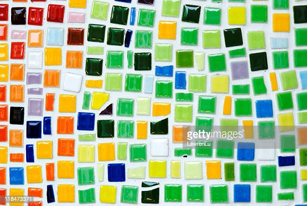 Bright colorful ceramic mosaic