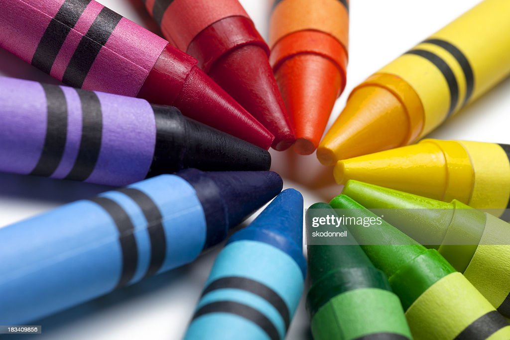 Bright Colorful Crayons : Stock Photo