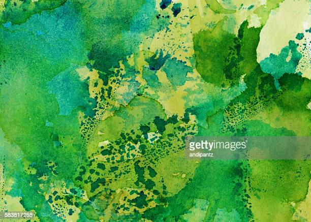 Bright colorful distressed background with shades of green