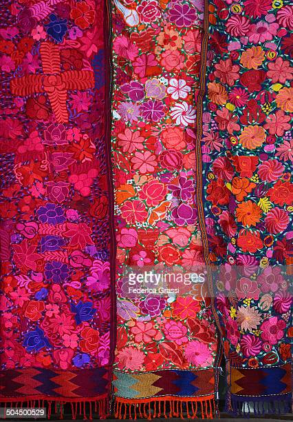Bright Colors embroidered Mexican tablerunners