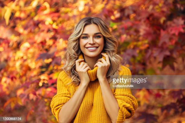 bright colors of autumn - jumper stock pictures, royalty-free photos & images