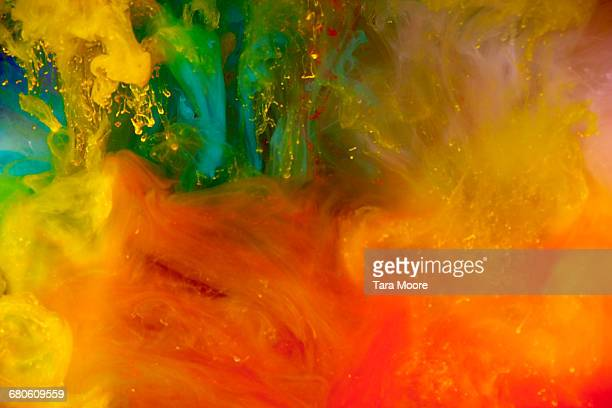 bright coloured paint underwater