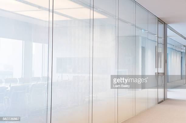 Bright contemporary plain office glass walls