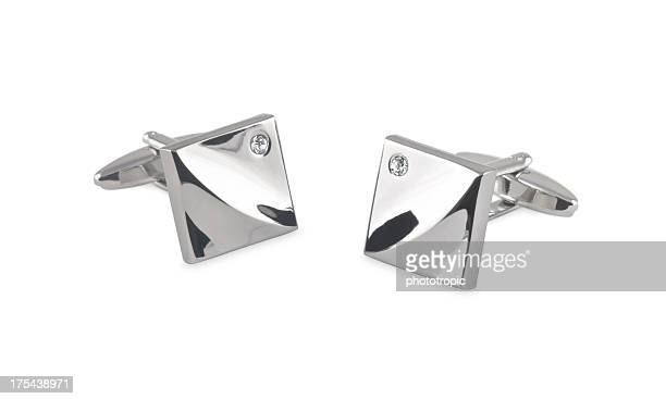 bright cufflinks with crystals