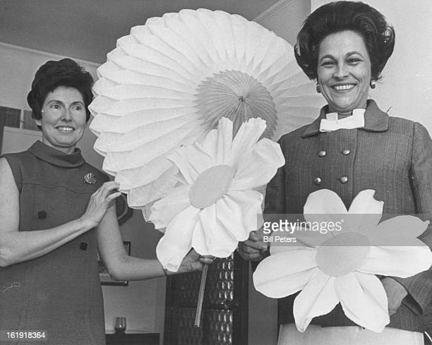 APR 24 1968 APR 25 1968 APR 26 1968 Bright Daisies Feature For Party Daisies will tell when the Symphony Deb queen is crowned Saturday at Cherry...
