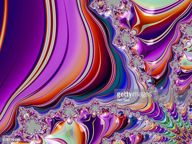 bright detailed fractal - trippy stock pictures, royalty-free photos & images
