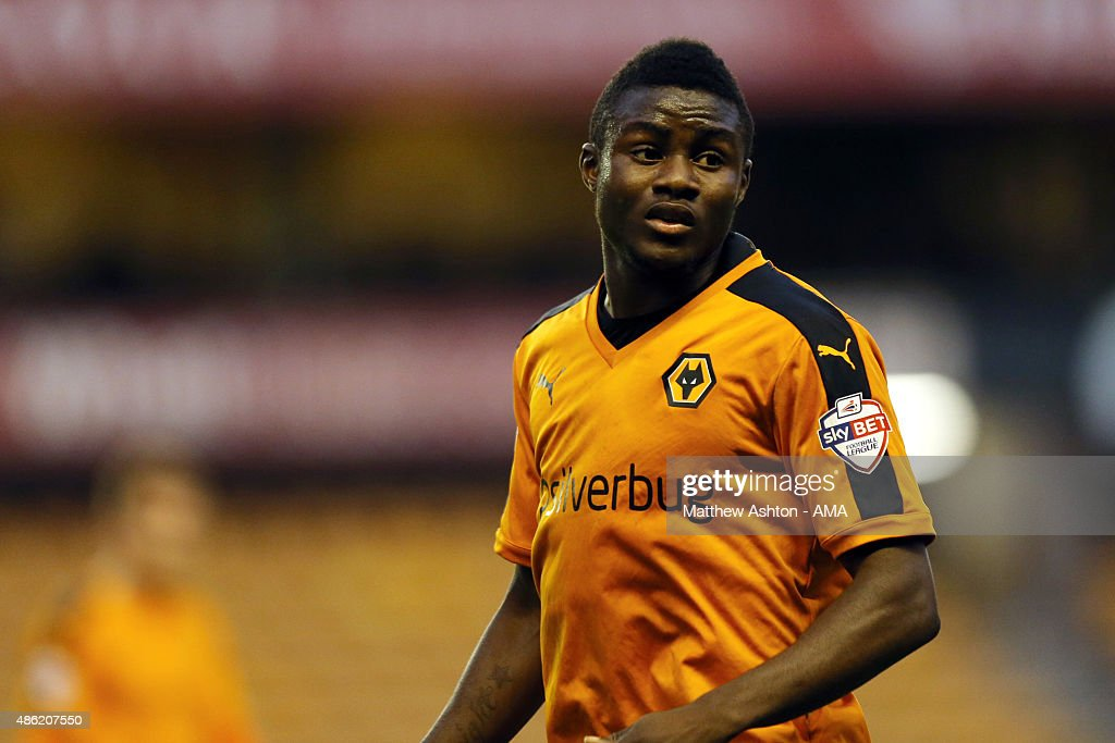 Bright Enobakhare of Wolverhampton Wanderers during the Capital One Cup match between Wolverhampton Wanderers and Barnet at Molineux on August 25, 2015 in Wolverhampton, England.
