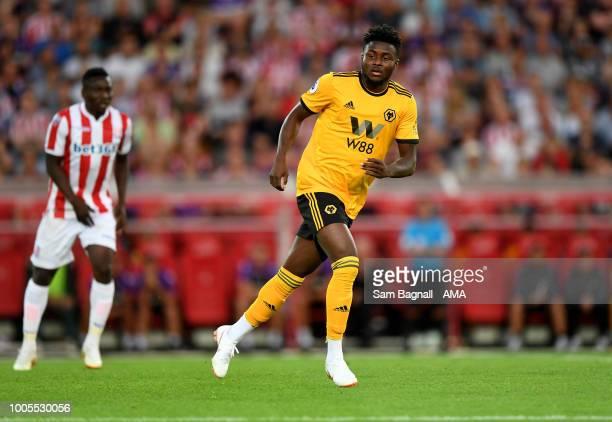 Bright Enobakhare of Wolverhampton Wanderers during the PreSeason Friendly match between Stoke City v Wolverhampton Wanderers at Bet365 Stadium on...