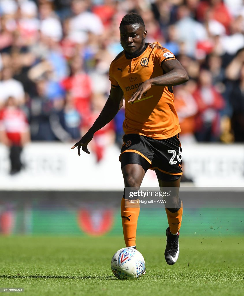 Bright Enobakhare of Wolverhampton Wanderers during the Sky Bet Championship match between Wolverhampton and Middlesbrough at Molineux on August 5, 2017 in Wolverhampton, England.