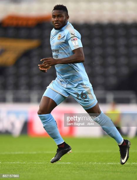 Bright Enobakhare of Wolverhampton Wanderers during the Sky Bet Championship match between Hull City and Wolverhampton at KCOM Stadium on August 15...