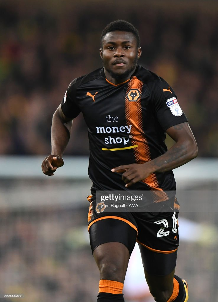 Bright Enobakhare of Wolverhampton Wanderers during the Sky Bet Championship match between Norwich City and Wolverhampton at Carrow Road on October 31, 2017 in Norwich, England.