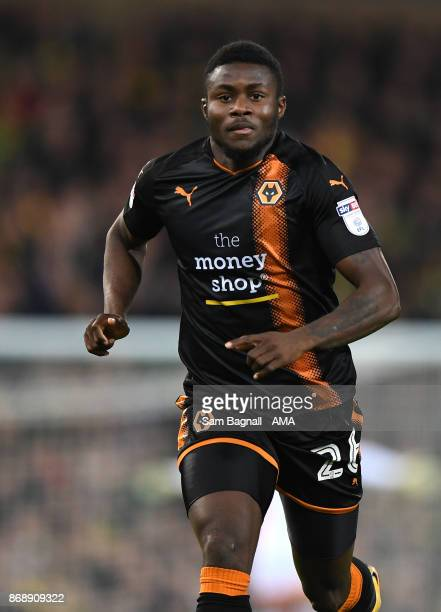Bright Enobakhare of Wolverhampton Wanderers during the Sky Bet Championship match between Norwich City and Wolverhampton at Carrow Road on October...