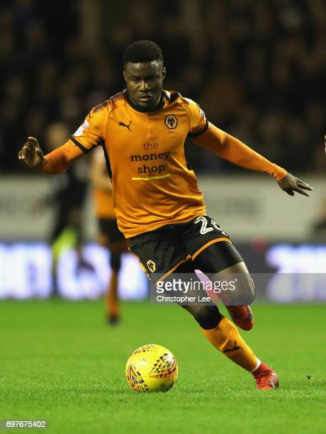 Bright Enobakhare of Wolverhampton Wanderers in action during the Sky Bet Championship match between Wolverhampton and Ipswich Town at Molineux on...