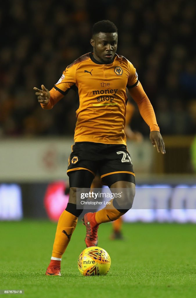 Bright Enobakhare of Wolverhampton Wanderers in action during the Sky Bet Championship match between Wolverhampton and Ipswich Town at Molineux on December 23, 2017 in Wolverhampton, England.