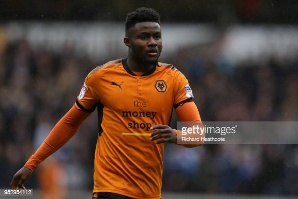 Bright Enobakhare of Wolverhampton Wanderers in action during the Sky Bet Championship match between Wolverhampton Wanderers and Sheffield Wednesday...