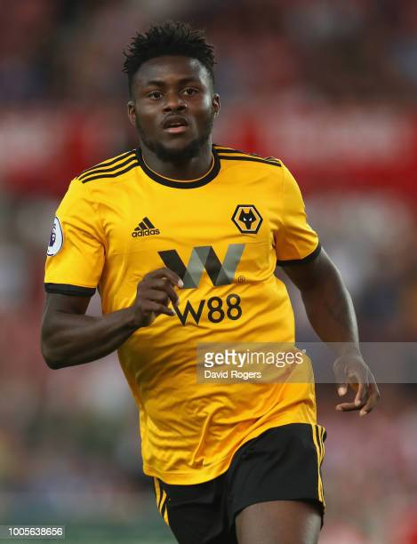 Bright Enobakhare of Wolverhampton Wanderers looks on during the preseason friendly match between Stoke City and Wolverhampton Wanderers at the...