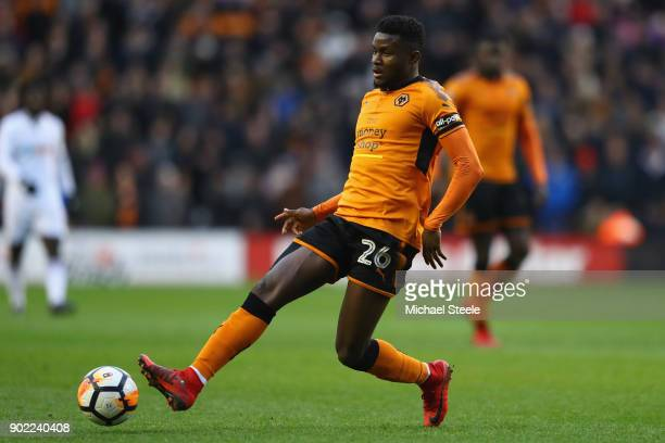 Bright Enobakhare of Wolves during the Emirates FA Cup Third Round match between Wolverhampton Wanderers and Swansea City at Molineux on January 6...