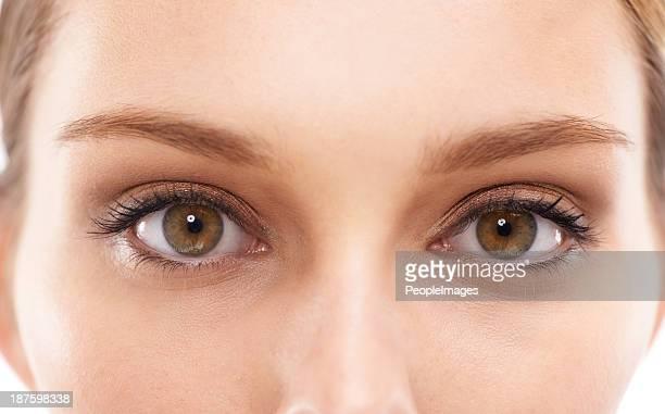 Leuchtende Augen Schönheit