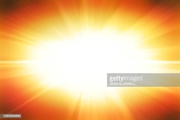 bright flash illustration - orange burst stock pictures, royalty-free photos & images