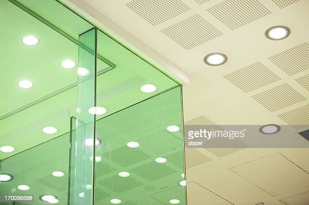 Bright glass walled area