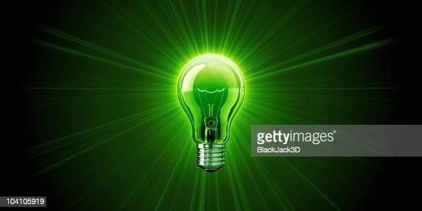 Ampoule brillant de vert