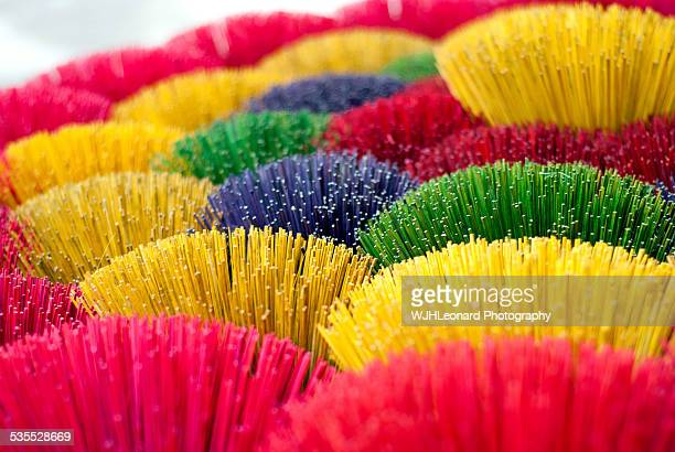 bright joss-sticks - incense coils stock photos and pictures