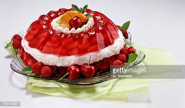 bright layered gelatin dessert - gelatin dessert stock pictures, royalty-free photos & images