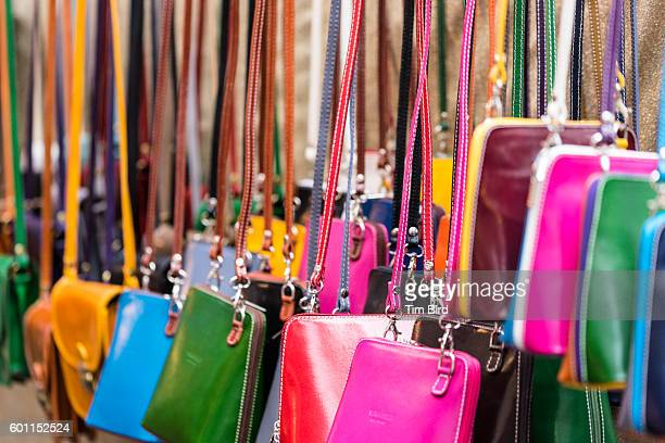 Bright leather bags