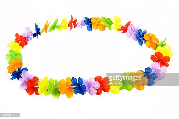 bright lei - necklace stock pictures, royalty-free photos & images