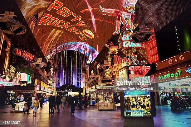 bright lights, big city! - fremont street las vegas stock pictures, royalty-free photos & images