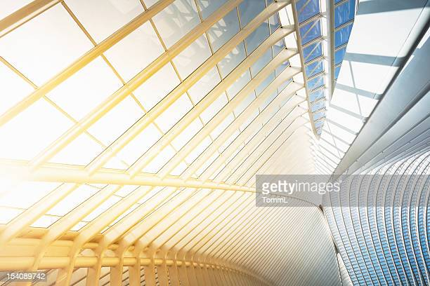 bright modern architecture - ceiling stock pictures, royalty-free photos & images