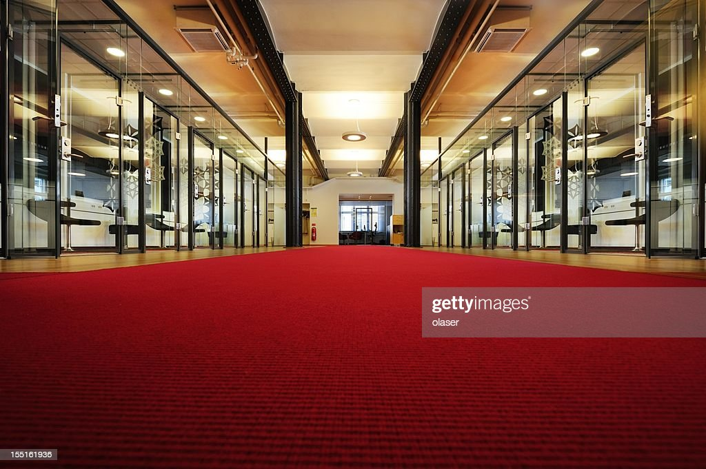 bright office. Bright Office With Red Carpet : Stock Photo A