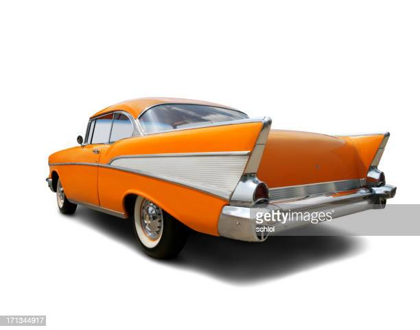 Bright Orange 1957 Chevrolet