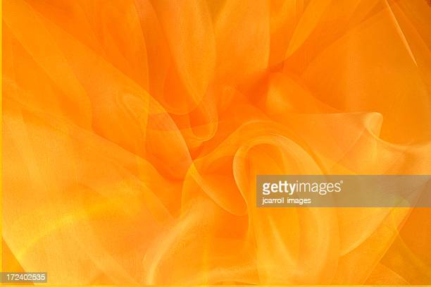 Bright Orange and Gold Swirls