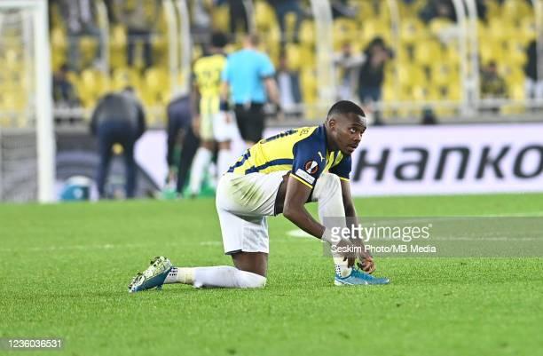 Bright Osayi Samuel of Fenerbahce during the UEFA Europa League group D match between Fenerbahce and Royal Antwerp FC at sukru Saracoglu Stadium on...