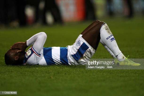 Bright Osayi-Samuel of Queens Park Rangers reacts after the final whistle having lost 2-3 during the Sky Bet Championship match between Queens Park...
