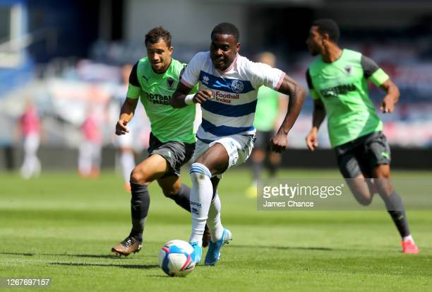 Bright OsayiSamuel of Queens Park Rangers runs after the ball during the PreSeason Friendly between Queens Park Rangers and AFC Wimbledon at The...