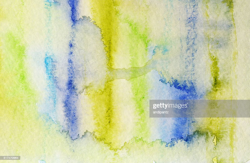 Bright Pastel Colors Hand Painted With Watercolor And Ink Stock Photo