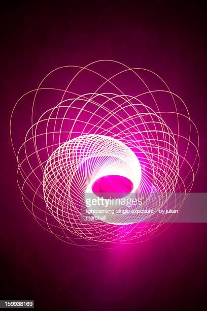 bright pink spirograph