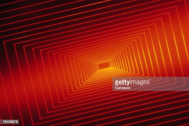 Bright red square pattern graphic