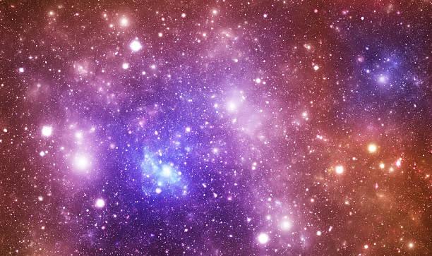 Bright space galaxy