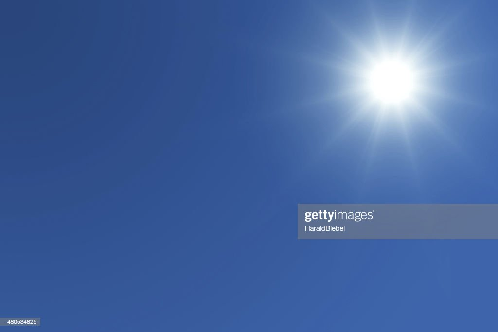 Bright sun with text space : Stock Photo